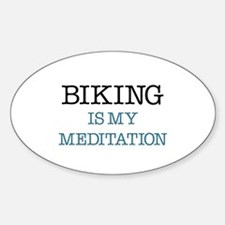 Biking is my Meditation Decal