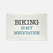 Biking is my Meditation Rectangle Magnet