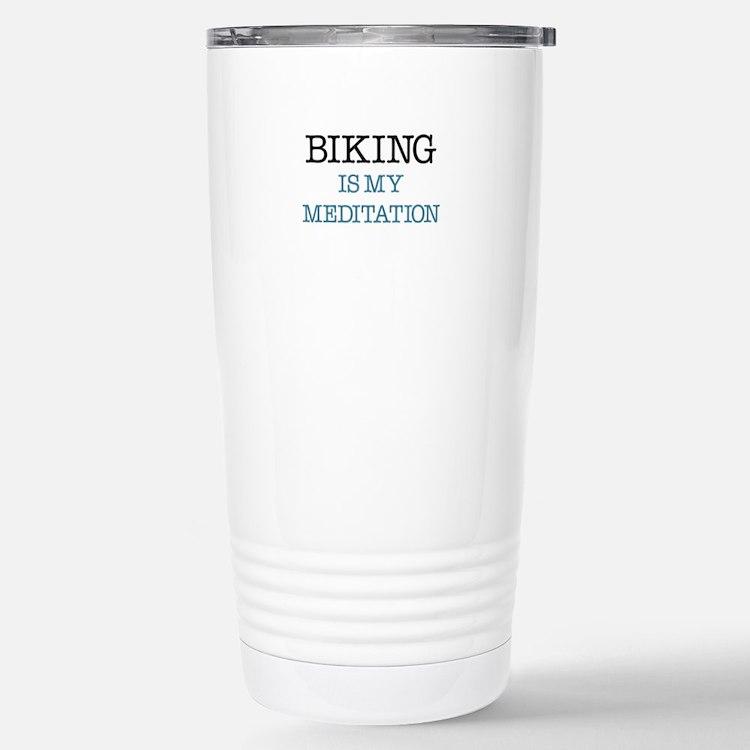 Biking is my Meditation Travel Mug