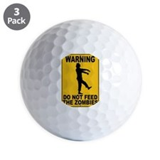 Do Not Feed the Zombies Golf Ball