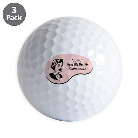 Knitter Voice Golf Balls
