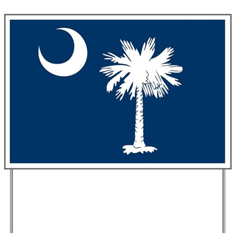 SC Palmetto Flag Yard Sign