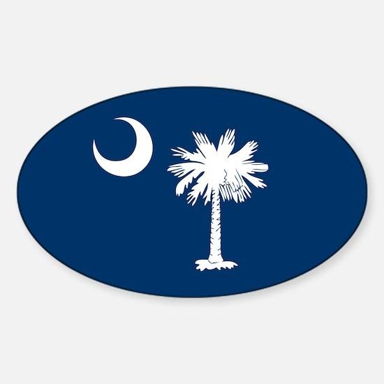 SC Palmetto Moon Sticker (Oval)