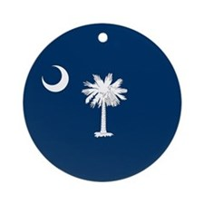 SC Palmetto Moon Ornament (Round)