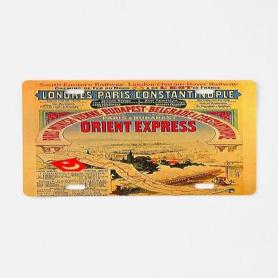 Orient Express Aluminum License Plate