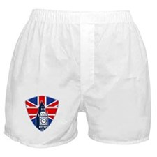 Big Ben British Flag Shield Boxer Shorts