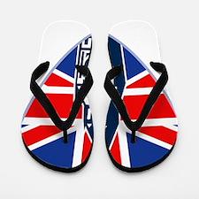 Big Ben British Flag Shield Flip Flops