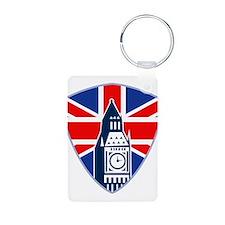 Big Ben British Flag Shield Keychains