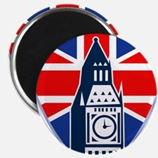 Big Ben British Flag Shield Magnet