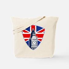 Big Ben British Flag Shield Tote Bag