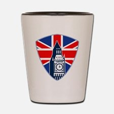 Big Ben British Flag Shield Shot Glass