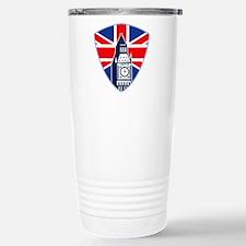 Big Ben British Flag Shield Travel Mug