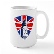 Big Ben British Flag Shield Mug