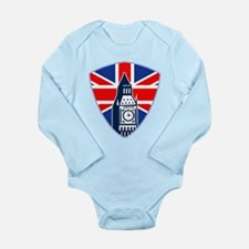 Big Ben British Flag Shield Long Sleeve Infant Bod