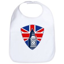 Big Ben British Flag Shield Bib