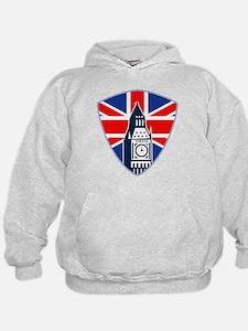 Big Ben British Flag Shield Hoodie