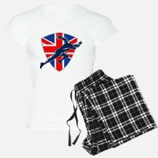 Runner Sprinter Start British Flag Shield Pajamas