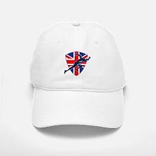 Runner Sprinter Start British Flag Shield Baseball Baseball Cap