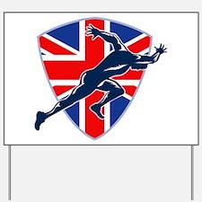 Runner Sprinter Start British Flag Shield Yard Sig