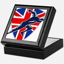 Runner Sprinter Start British Flag Shield Keepsake