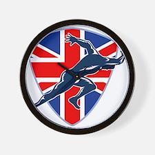 Runner Sprinter Start British Flag Shield Wall Clo