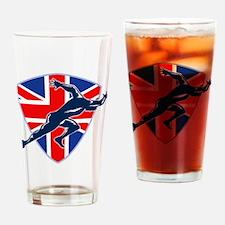Runner Sprinter Start British Flag Shield Drinking