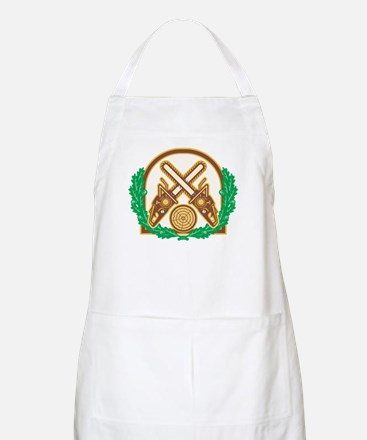 Crossed Chainsaw Timber Wood Leaf Apron