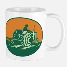 Farmer Worker Driving Farm Tractor Mug