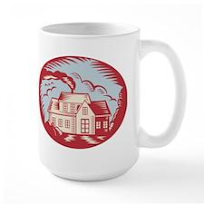 House Homestead Cottage Woodcut Mug