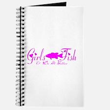 GIRLS BASS FISH Journal
