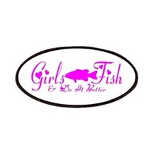 GIRLS BASS FISH Patches