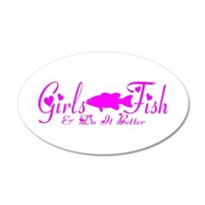GIRLS BASS FISH Wall Decal