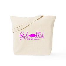 GIRLS BASS FISH Tote Bag