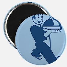 """Waiter Cook Chef Baker Serving Food 2.25"""" Magnet ("""