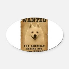 8-Wanted _V2.png Oval Car Magnet