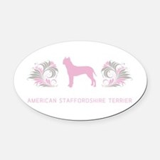 15-pinkgray.png Oval Car Magnet