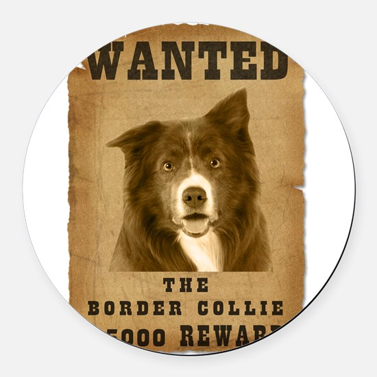 20-Wanted _V2.png Round Car Magnet