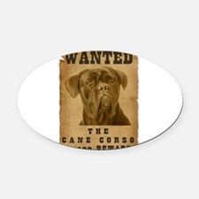 13-Wanted _V2.png Oval Car Magnet