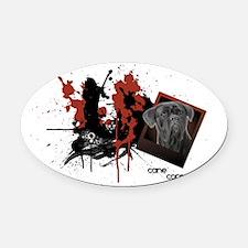 cane.png Oval Car Magnet
