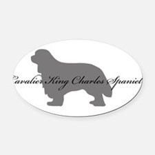 4-greysilhouette.png Oval Car Magnet