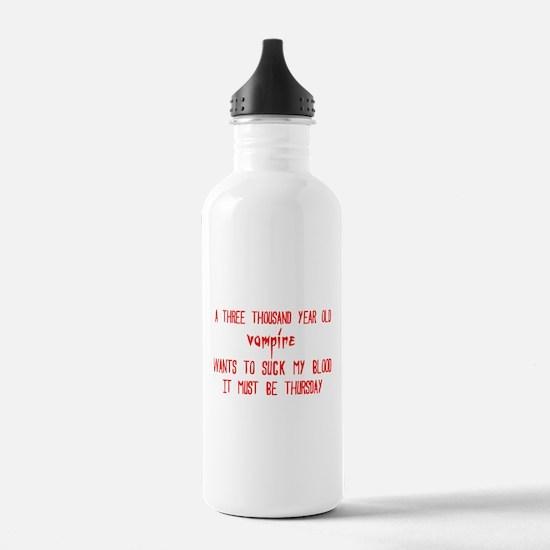 must be thursday Water Bottle