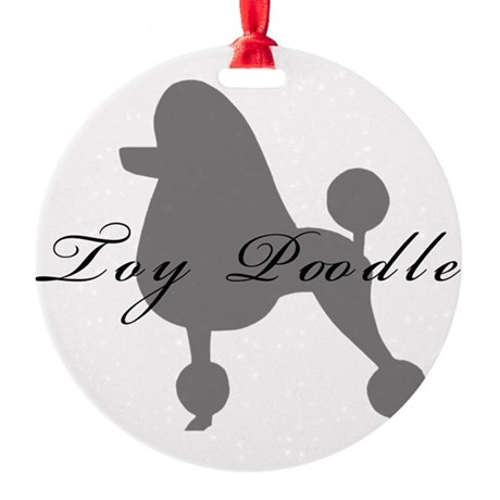 greysilhouette2toy.png Round Ornament