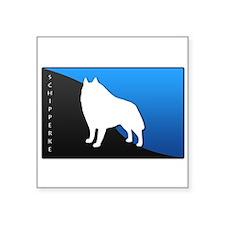 "5-blueblack.png Square Sticker 3"" x 3"""
