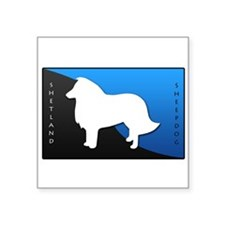 "2-blueblack.png Square Sticker 3"" x 3"""
