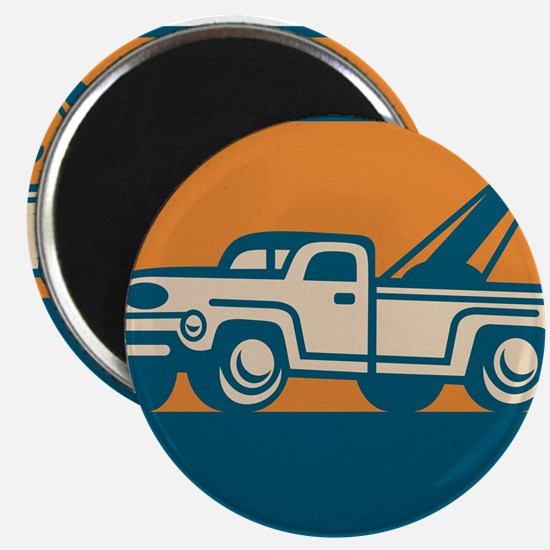 Vintage Tow Wrecker Pick-up Truck Magnet