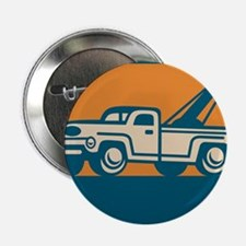 "Vintage Tow Wrecker Pick-up Truck 2.25"" Button"