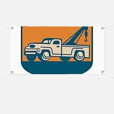 Vintage Tow Wrecker Pick-up Truck Banner