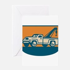 Vintage Tow Wrecker Pick-up Truck Greeting Card