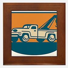 Vintage Tow Wrecker Pick-up Truck Framed Tile