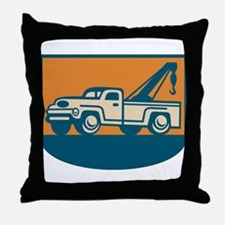 Vintage Tow Wrecker Pick-up Truck Throw Pillow